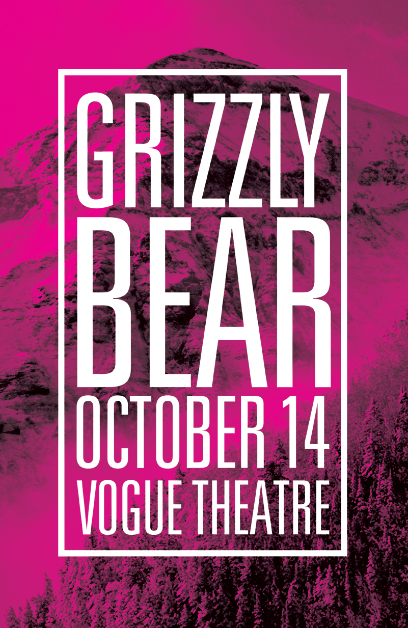 Grizzly Bear Gig Poster