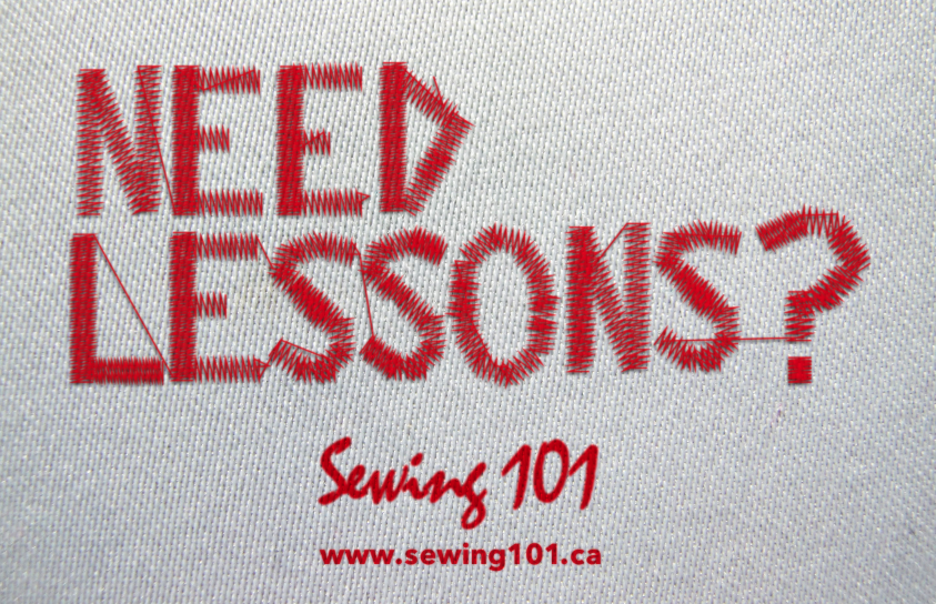 Need Lesson Sewing 101 ad - designed by Mitchell Martin