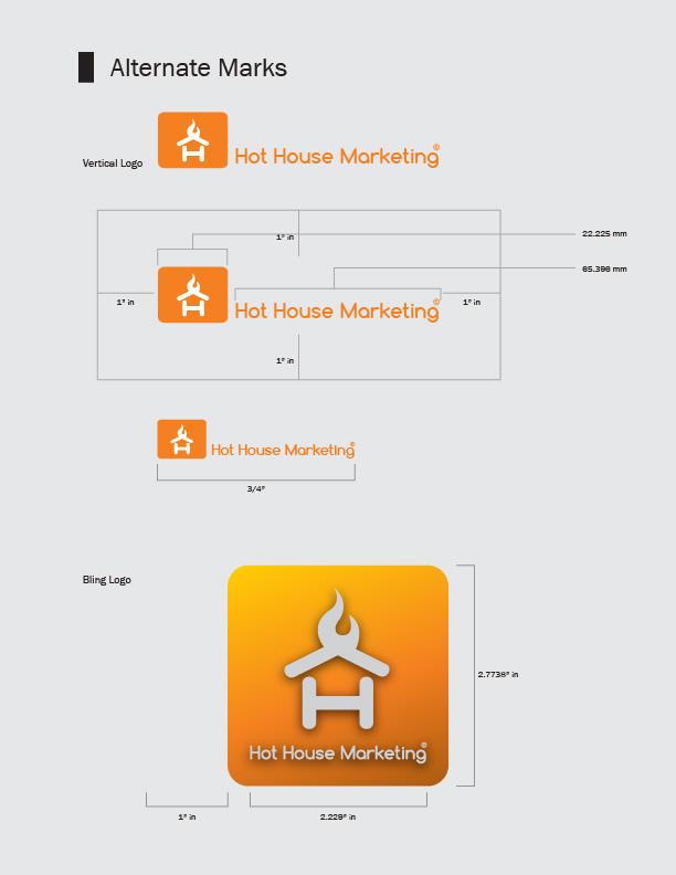 Hot House Marketing Logo Re-Design - designed by Mitchell Martin